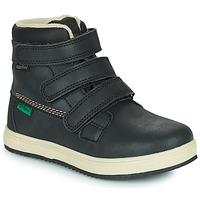 Zapatos Niños Botas de caña baja Kickers YEPOKRO WPF Negro