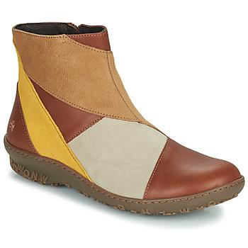 Zapatos Mujer Botas de caña baja Art ANTIBES Marrón