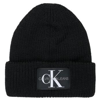 Accesorios textil Mujer Gorro Calvin Klein Jeans MONOGRAM BEANIE WL Negro