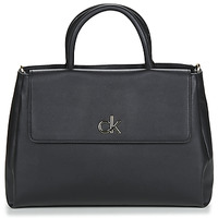 Bolsos Mujer Bolso Calvin Klein Jeans RE-LOCK TOTE W/FLAP MD Negro
