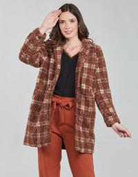 textil Mujer Abrigos Chattawak BOBINO Rojo / Blanco