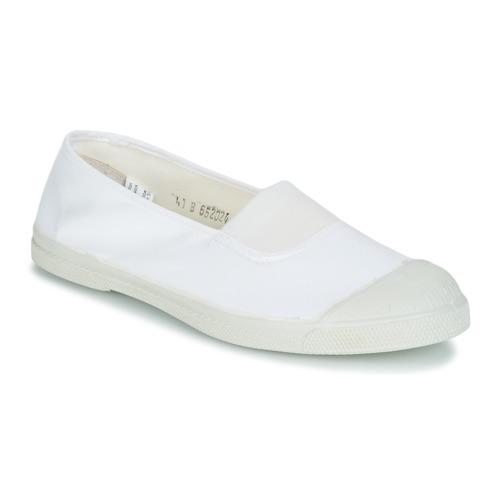 Zapatos Mujer Zapatillas bajas Bensimon TENNIS ELASTIQUE Blanco