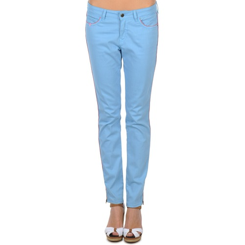 Textil Brigitte Pantalones Mujer 5 Bardot Bolsillos Con Aube Azul VLUqzMpSG