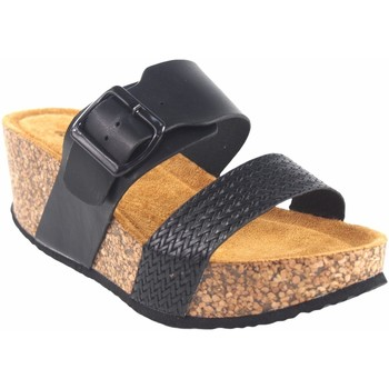 Zapatos Mujer Zuecos (Mules) Isteria Sandalia señora   21042 negro Negro
