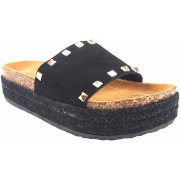 Zapatos Mujer Zuecos (Mules) Isteria Sandalia señora   21053 negro Negro