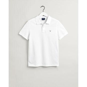 textil Hombre Polos manga corta Gant Polo piqué Original Blanco