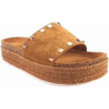 Zapatos Mujer Zuecos (Mules) Isteria Sandalia señora   21053 cuero Marrón