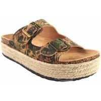 Zapatos Mujer Alpargatas Isteria Sandalia señora   21052 kaki Multicolor