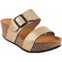 Zapatos Mujer Zuecos (Mules) Isteria Sandalia señora   21042 platino Oro