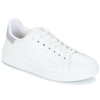 Zapatos Mujer Zapatillas bajas Yurban SATURNA Blanco / Plateado