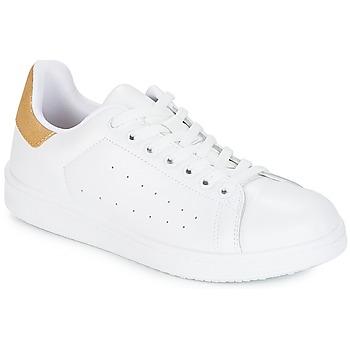 Zapatos Mujer Zapatillas bajas Yurban SATURNA Blanco / DORADO