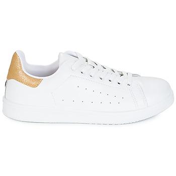 Yurban SATURNA Blanco / Oro - Envío gratis |  - Zapatos Deportivas bajas Mujer 4800