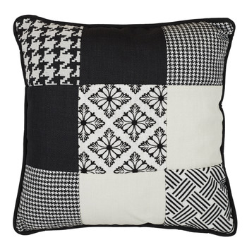 Casa Cojines The home deco factory PATCHWORK Patchwork / Blanco-negro