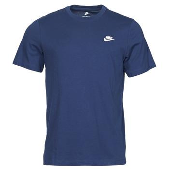 textil Hombre Camisetas manga corta Nike NIKE SPORTSWEAR CLUB Azul / Blanco