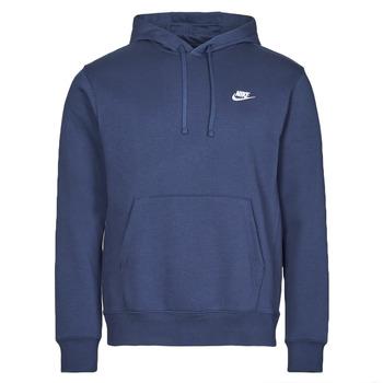 textil Hombre Sudaderas Nike NIKE SPORTSWEAR CLUB FLEECE Marino / Blanco