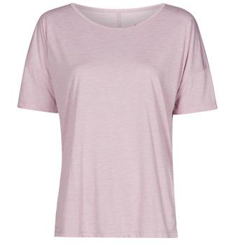 textil Mujer Camisetas manga corta Nike NIKE YOGA Violeta