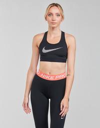textil Mujer Sujetador deportivo  Nike W NK DF SWSH ICNCLSH GX BRA Negro / Blanco