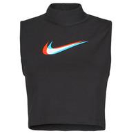 textil Mujer Camisetas sin mangas Nike W NSW TANK MOCK PRNT Negro