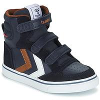Zapatos Niños Zapatillas altas Hummel STADIL PRO JR Azul / Marrón