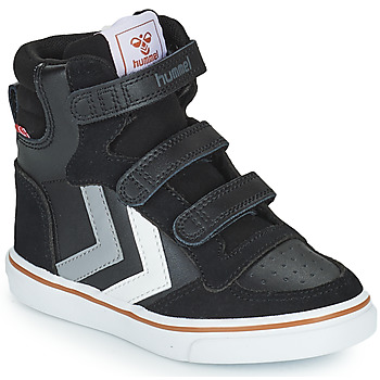 Zapatos Niños Zapatillas altas Hummel STADIL PRO JR Negro / Gris