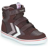 Zapatos Niña Zapatillas altas Hummel STADIL PRO JR Burdeo