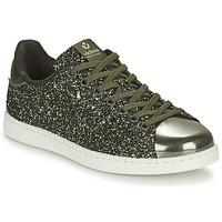 Zapatos Mujer Zapatillas bajas Victoria TENIS GLITTER Kaki / Plata