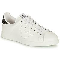 Zapatos Mujer Zapatillas bajas Victoria TENIS PIEL Blanco / Plata