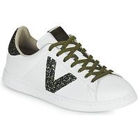 Zapatos Mujer Zapatillas bajas Victoria TENIS PIEL Blanco / Kaki