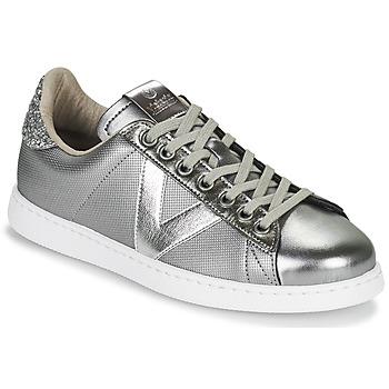 Zapatos Mujer Zapatillas bajas Victoria TENIS METAL Plata
