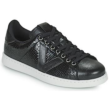 Zapatos Mujer Zapatillas bajas Victoria TENIS SERPIENTE Negro