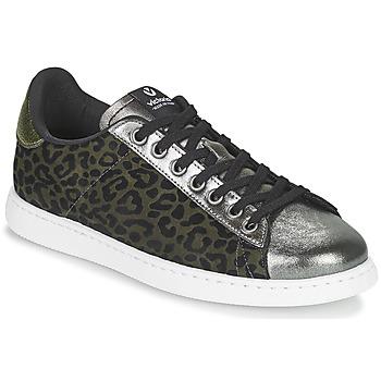 Zapatos Mujer Zapatillas bajas Victoria TENIS LEOPARDO Kaki