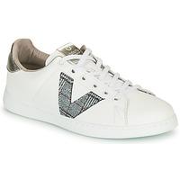 Zapatos Mujer Zapatillas bajas Victoria TENIS PIEL VEGANA Blanco / Gris