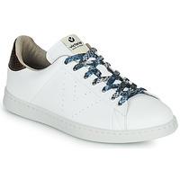 Zapatos Mujer Zapatillas bajas Victoria TENIS VEGANO SERPIENTE Blanco / Bronce