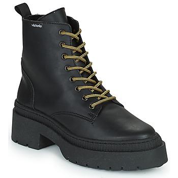 Zapatos Mujer Botas de caña baja Victoria CIELO PIEL VEGANA Negro