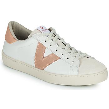 Zapatos Mujer Zapatillas bajas Victoria BERLIN PIEL CONTRASTE Blanco / Rosa