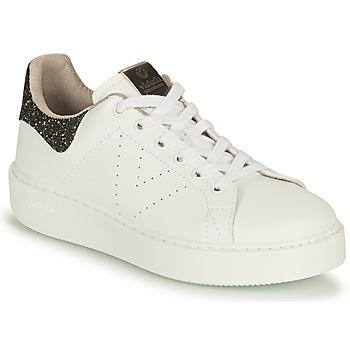 Zapatos Mujer Zapatillas bajas Victoria UTOPIA VEGANA GLITTER Blanco / Negro