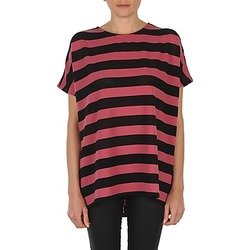 textil Mujer Camisetas manga corta Vero Moda CHELLA 2/4 LONG TOP KM Negro / Rosa