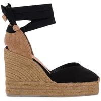 Zapatos Mujer Sandalias Castaner Sandalia con cuña Chiara de tela y tejido negro Negro