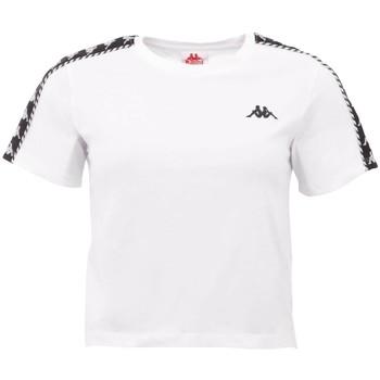 textil Mujer Camisetas manga corta Kappa Inula T-Shirt Blanc