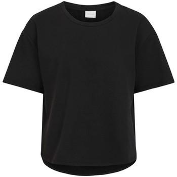textil Mujer Camisetas manga corta Vila VINAMI BOAT NECK 2/4 SWEAT TOP/SU Negro