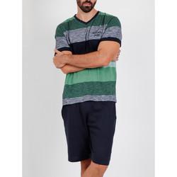 textil Hombre Pijama Admas For Men Camiseta corta del pijama Scratch Antonio Miró verde Admas Verde Oscuro