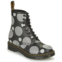Zapatos Mujer Botas de caña baja Dr Martens 1460 Blanco / Gris