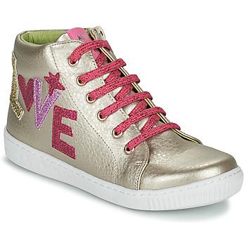 Zapatos Niña Zapatillas altas Agatha Ruiz de la Prada FLOW Beige / Rosa