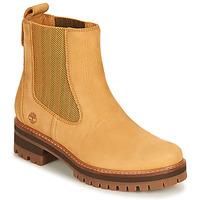 Zapatos Mujer Botas de caña baja Timberland COURMAYEUR VALLEY CHELSEA Trigo