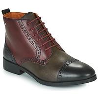 Zapatos Mujer Botas de caña baja Pikolinos ROYAL Burdeo / Negro / Marrón