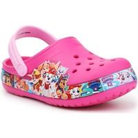 Zapatos Niña Zuecos (Clogs) Crocs FL Paw Patrol Band Clog 205509-670 rosado