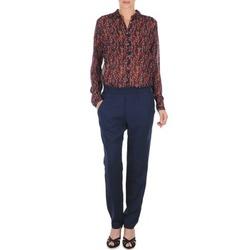 textil Mujer Pantalones fluidos Marc O'Polo ALBA Azul / Rojo