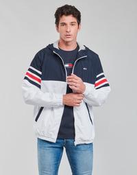 textil Hombre cazadoras Tommy Jeans TJM COLORBLOCK ZIPTHRU Azul / Blanco / Rojo