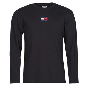 textil Hombre Camisetas manga larga Tommy Jeans TJM LS TOMMY BADGE TEE Negro