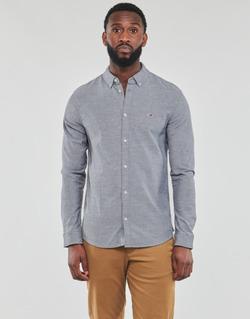 textil Hombre Camisas manga larga Tommy Jeans TJM STRETCH OXFORD SHIRT Negro